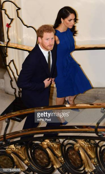 Prince Harry Duke of Sussex and Meghan Duchess of Sussex attends the '100 days of peace' concert to commemorate the centenary of the end of the First...