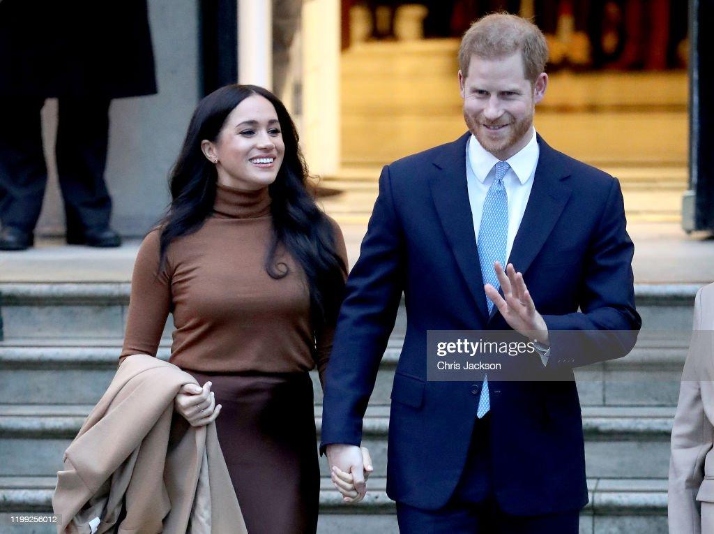 The Duke And Duchess Of Sussex Visit Canada House : Fotografia de notícias