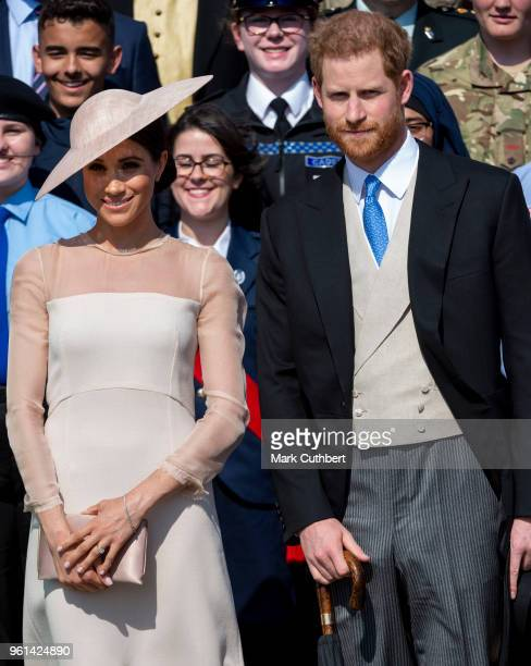 Prince Harry Duke of Sussex and Meghan Duchess of Sussex during The Prince of Wales' 70th Birthday Patronage Celebration held at Buckingham Palace on...