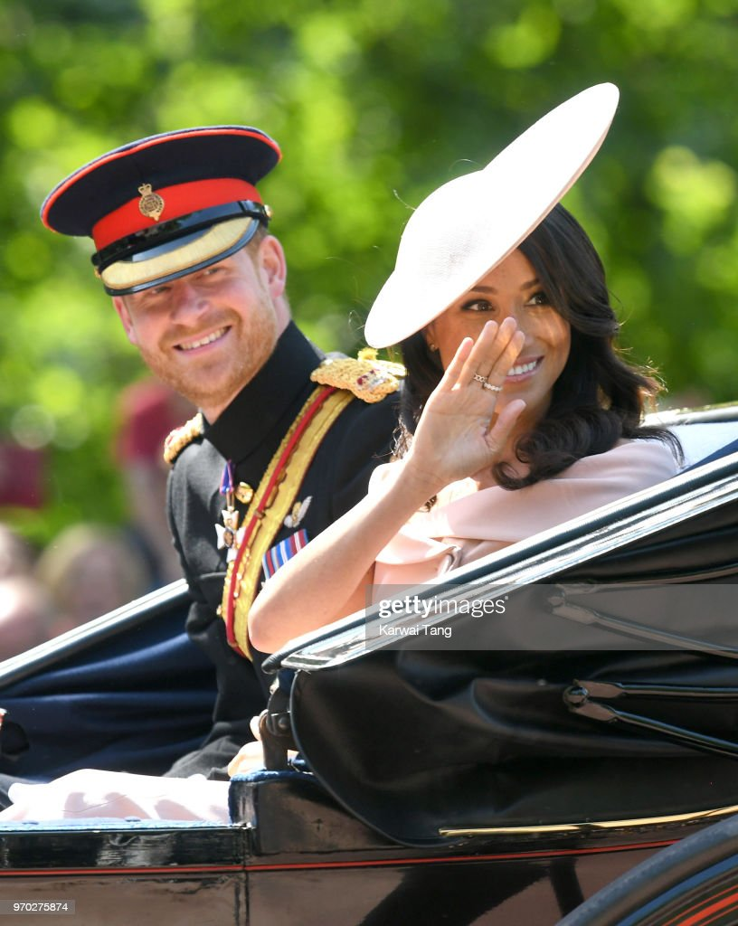Meghan, Duchess of Sussex, made her first appearance at the annual Trooping Of The Colour ceremony