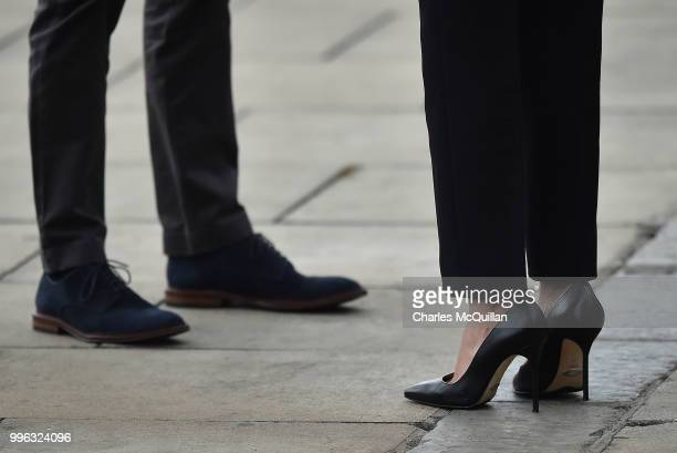 Prince Harry Duke of Sussex and Meghan Duchess of Sussex enjoy a walkabout as they visit the Dogpatch Labs on the second day of their official two...