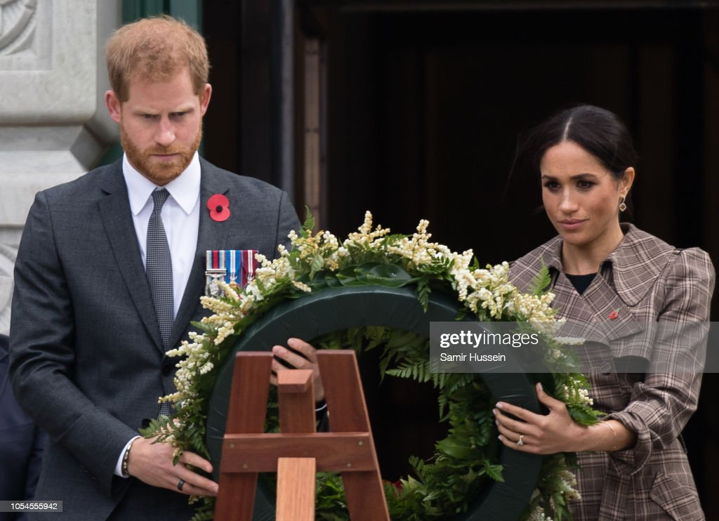 prince harry duke of sussex and meghan duchess of sussex lay a news photo getty images 2