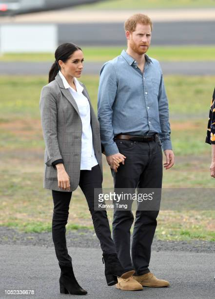 Prince Harry, Duke of Sussex and Meghan, Duchess of Sussex meet local community members as they attend the naming dedication and unveiling of a new...