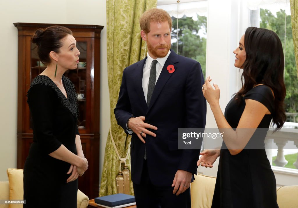 The Duke And Duchess Of Sussex Visit New Zealand - Day 1 : Nachrichtenfoto
