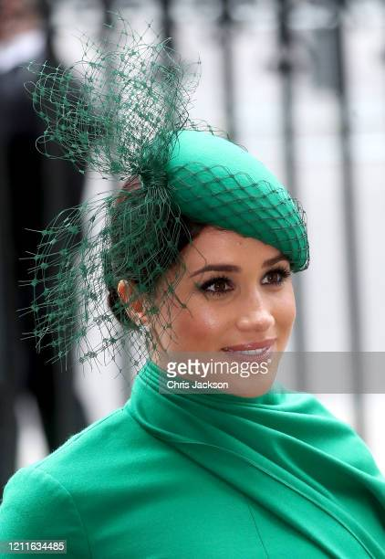Prince Harry Duke of Sussex and Meghan Duchess of Sussex meets children as she attends the Commonwealth Day Service 2020 on March 09 2020 in London...