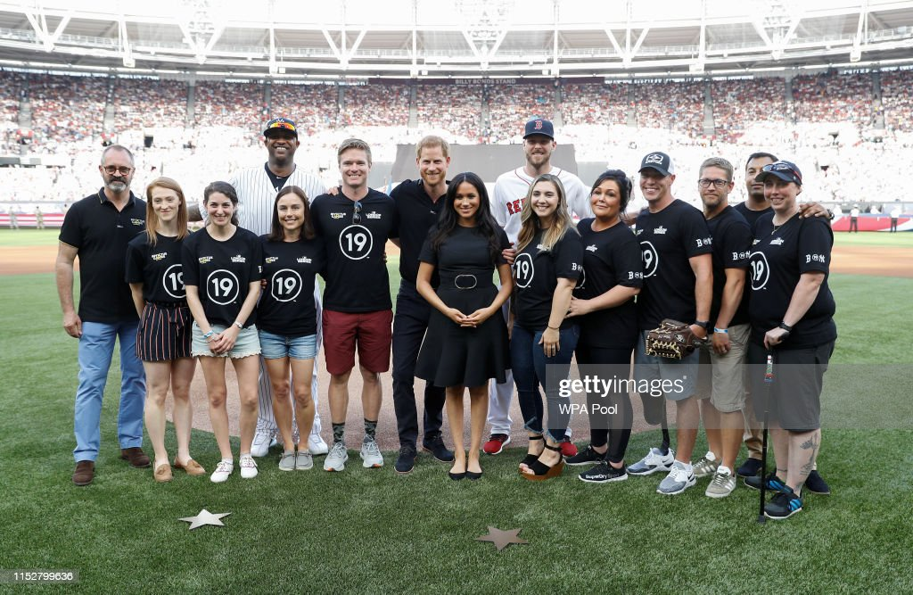 The Duke Of Sussex Attends The Boston Red Sox VS New York Yankees Baseball Game : News Photo