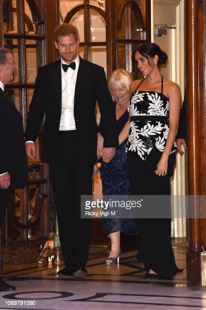 Prince Harry, Duke of Sussex and Meghan, Duchess of Sussex seen leaving The Royal Variety Performance 2018 at London Palladium on November 19, 2018...