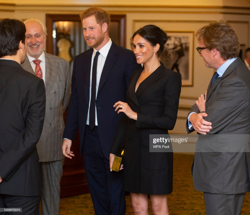 """The Duke & Duchess Of Sussex Attend A Gala Performance Of """"Hamilton"""" In Support Of Sentebale : News Photo"""