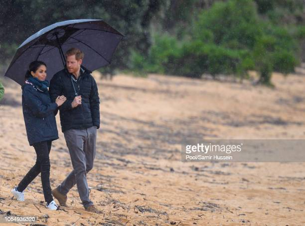 Prince Harry, Duke of Sussex and Meghan, Duchess of Sussex visit Abel Tasman National Park, which sits at the north-Eastern tip of the South Island,...