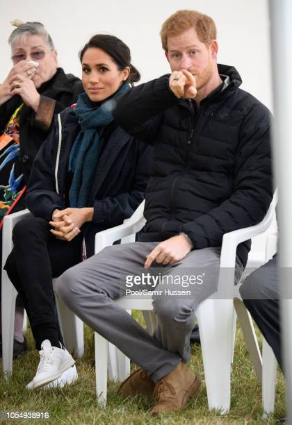 Prince Harry Duke of Sussex and Meghan Duchess of Sussex visit Abel Tasman National Park which sits at the northEastern tip of the South Island to...