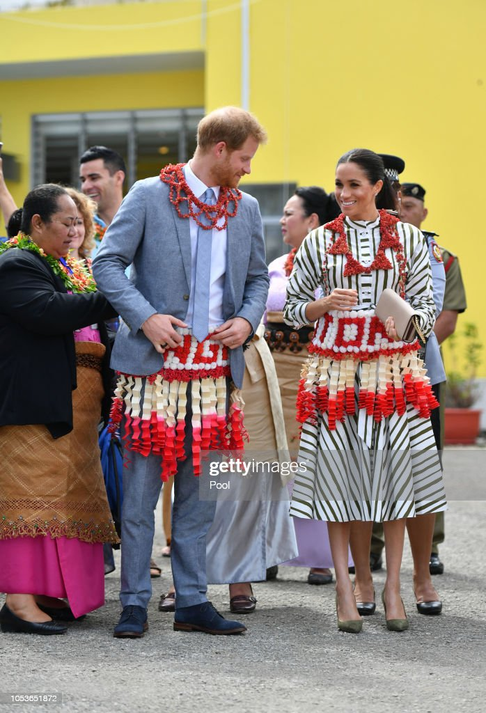 The Duke And Duchess Of Sussex Visit Tonga - Day 2 : News Photo