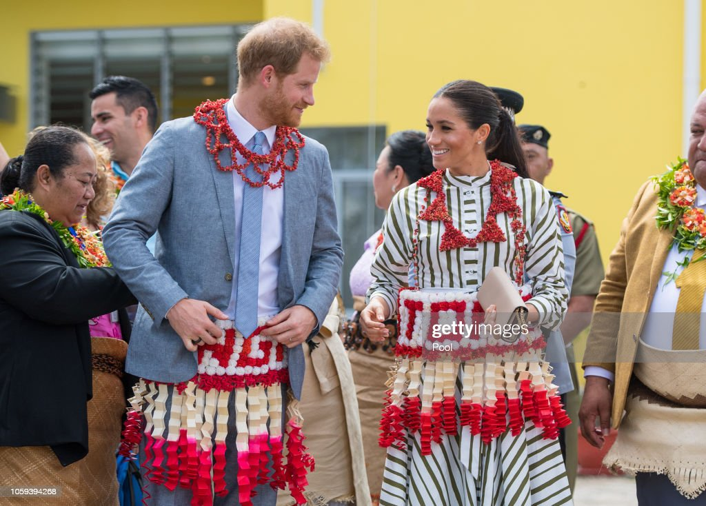 The Duke And Duchess Of Sussex Visit Tonga : News Photo