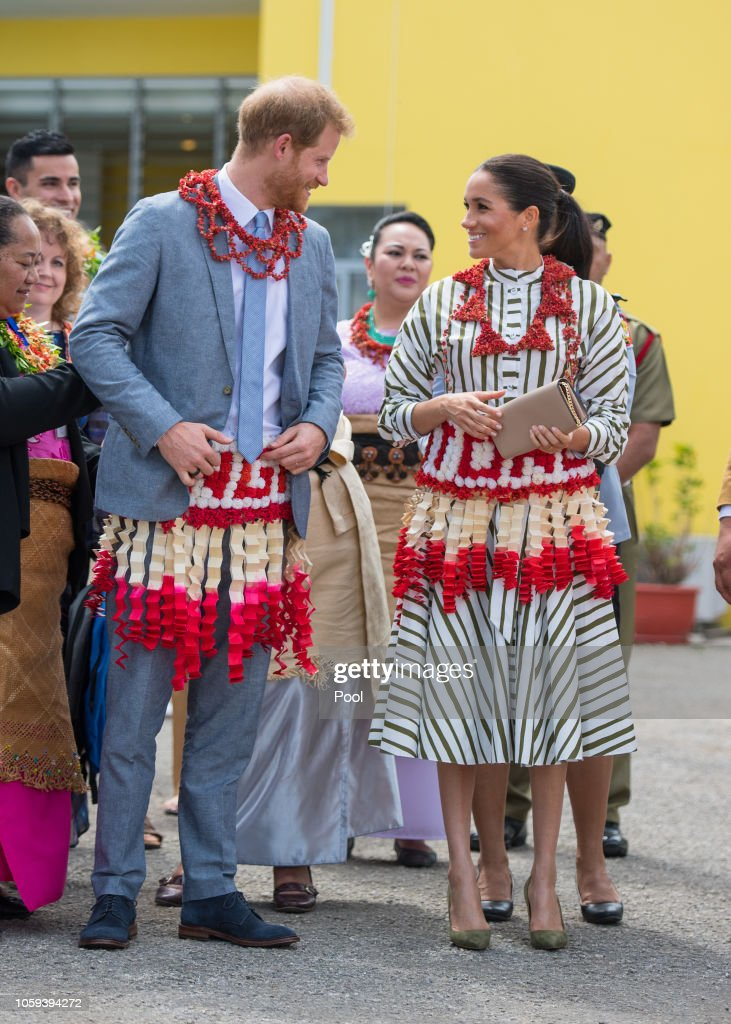 The Duke And Duchess Of Sussex Visit Tonga : News Photo