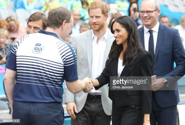 Prince Harry Duke of Sussex and Meghan Duchess of Sussex visit Croke Park home of Ireland's largest sporting organisation the Gaelic Athletic...