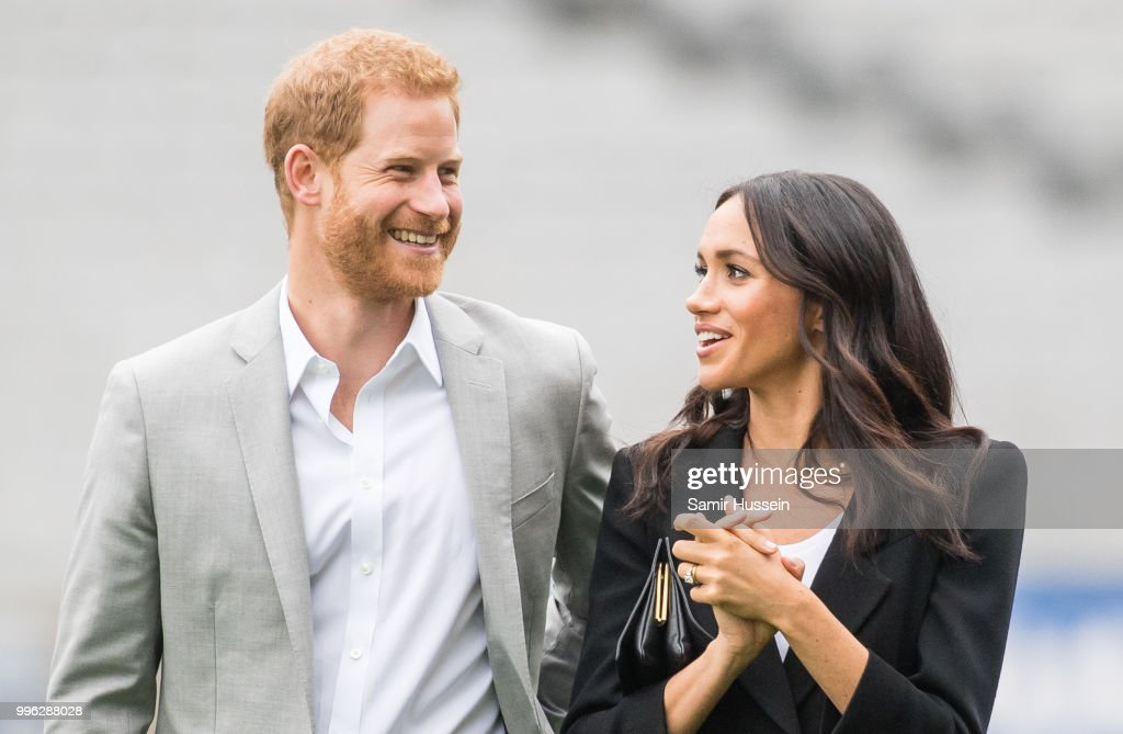 Prince Harry, Duke of Sussex and Meghan, Duchess of Sussex visit Croke Park, home of Ireland's largest sporting organisation, the Gaelic Athletic Association on July 11, 2018 in Dublin, Ireland.