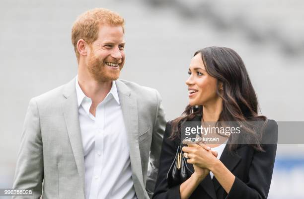Prince Harry, Duke of Sussex and Meghan, Duchess of Sussex visit Croke Park, home of Ireland's largest sporting organisation, the Gaelic Athletic...