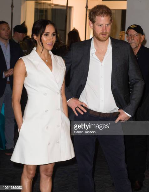 Prince Harry, Duke of Sussex and Meghan, Duchess of Sussex visit Courtnay Creative for an event celebrating the city's thriving arts scene on October...