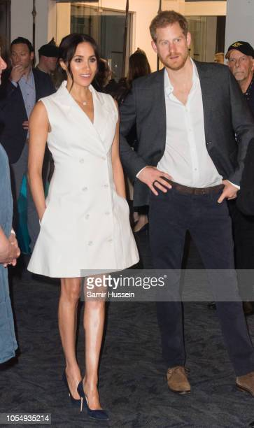 Prince Harry Duke of Sussex and Meghan Duchess of Sussex visit Courtnay Creative for an event celebrating the city's thriving arts scene on October...