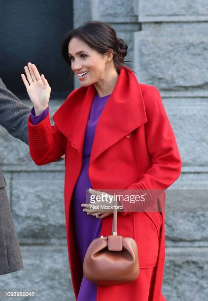 Prince Harry Duke of Sussex and Meghan Duchess of Sussex visit Hamilton Square on January 14 2019 in Birkenhead United Kingdom