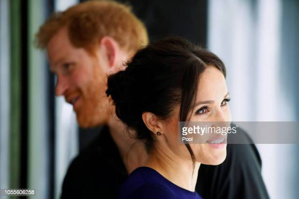 Prince Harry Duke of Sussex and Meghan Duchess of Sussex visit the National Kiwi Hatchery at Rainbow Springs on October 31 2018 in Rotorua New...