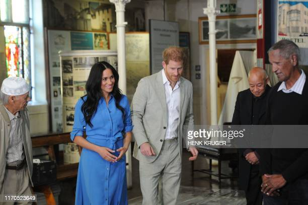 Prince Harry Duke of Sussex and Meghan Duchess of Sussex visit the District Six museum in Cape Town on the first afternoon of their tour of the...