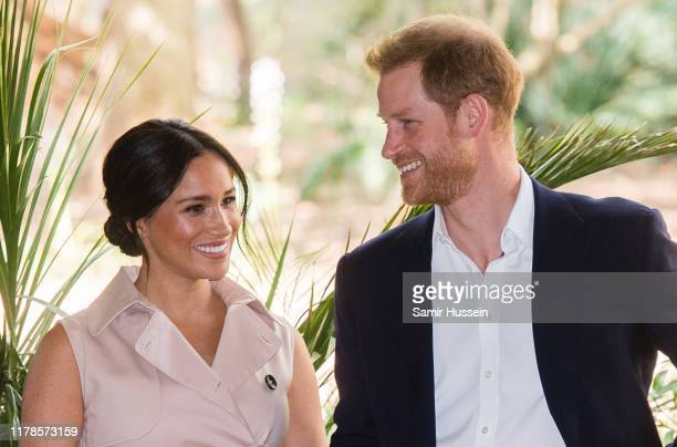 Prince Harry, Duke of Sussex and Meghan, Duchess of Sussex visit the British High Commissioner's residence to attend an afternoon reception to...