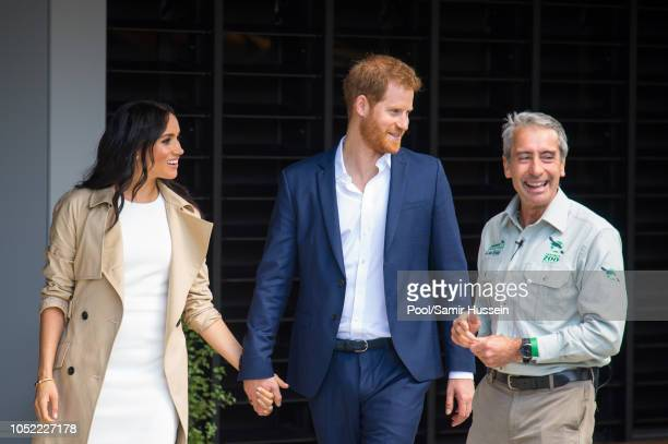Prince Harry Duke of Sussex and Meghan Duchess of Sussex visit Taronga Zoo on October 16 2018 in Sydney Australia The Duke and Duchess of Sussex are...