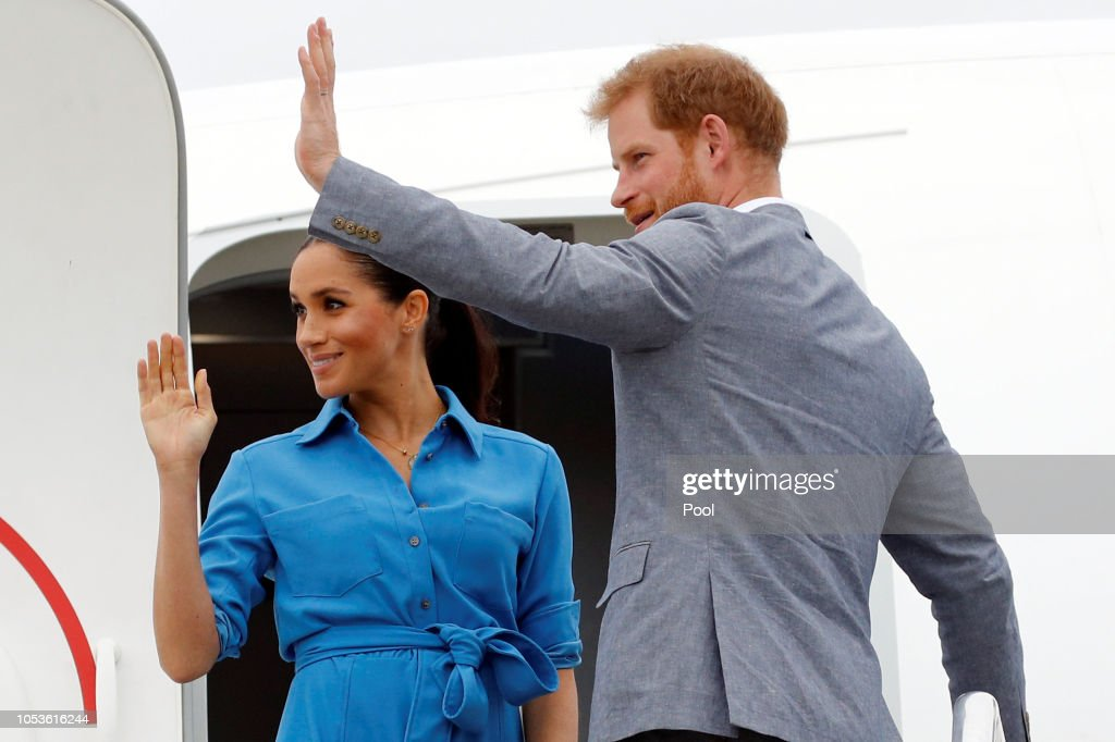 The Duke And Duchess Of Sussex Visit Tonga - Day 2 : Foto jornalística