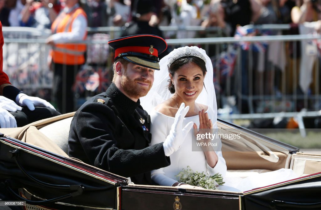 Prince Harry Marries Ms. Meghan Markle - Procession : Nyhetsfoto