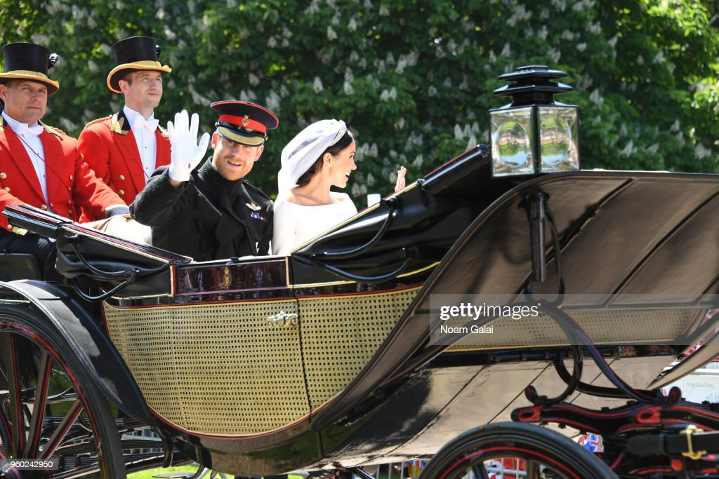 Prince Harry Marries Ms. Meghan Markle - Procession : News Photo