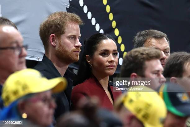 Prince Harry Duke of Sussex and Meghan the Duchess of Sussex attend the gold medal match of the Wheelchair Basketball between the Netherlands and the...