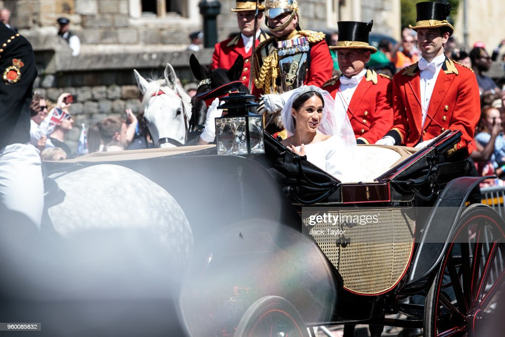 Prince Harry Marries Ms. Duchess of Sussex - Procession : News Photo