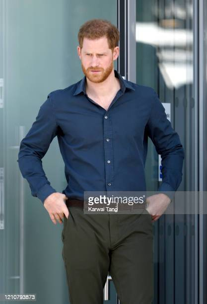 Prince Harry, Duke of Sussex arrives to officially open The Silverstone Experience at Silverstone on March 06, 2020 in Northampton, England.