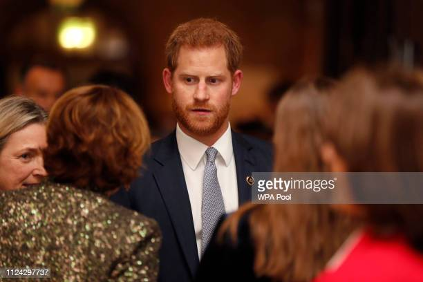 Prince Harry Duke of Sussex attends a gala performance of 'The Wider Earth' in support of the Queen's Commonwealth Trust the Queen's Commonwealth...
