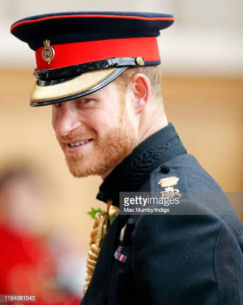 Prince Harry, Duke of Sussex attends, as reviewing officer, the annual Founder's Day Parade at the Royal Hospital Chelsea on June 6, 2019 in London,...