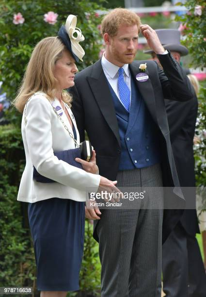 Prince Harry Duke of Sussex attends day 1 of Royal Ascot at Ascot Racecourse on June 19 2018 in Ascot England