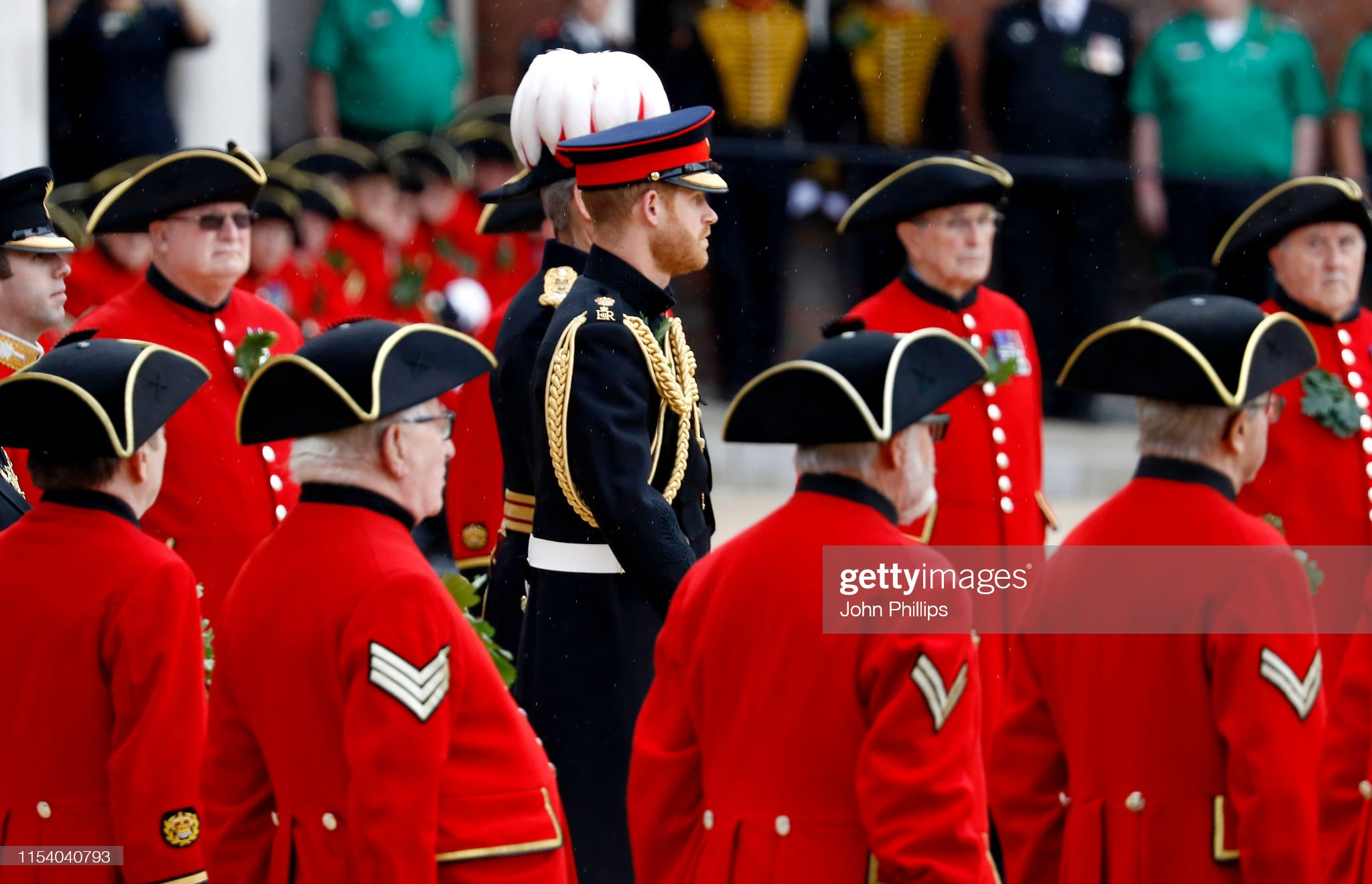 prince-harry-duke-of-sussex-attends-the-annual-founders-day-parade-at-picture-id1154040793
