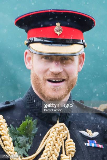 Prince Harry, Duke of Sussex attends the annual Founder's Day parade at Royal Hospital Chelsea on June 06, 2019 in London, England.