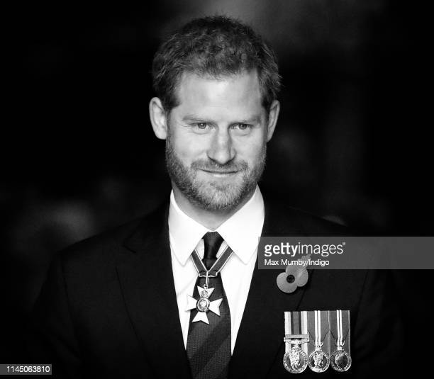 Prince Harry Duke of Sussex attends the ANZAC Day Service of Commemoration and Thanksgiving at Westminster Abbey on April 25 2019 in London England...
