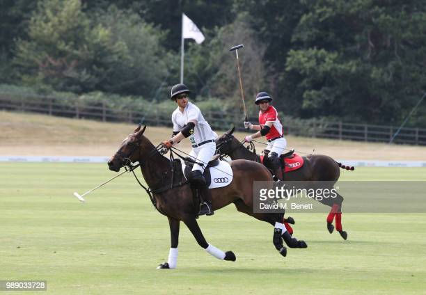 Prince Harry Duke of Sussex attends the Audi Polo Challenge at Coworth Park Polo Club on July 1 2018 in Ascot England