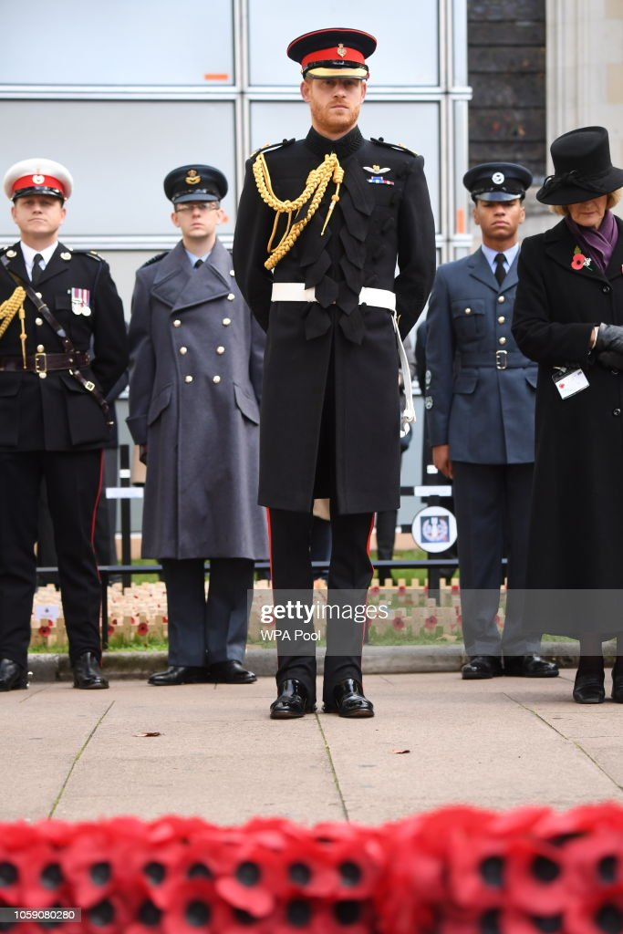 The Duke Of Sussex Visits The Field Of Remembrance At Westminster Abbey : News Photo
