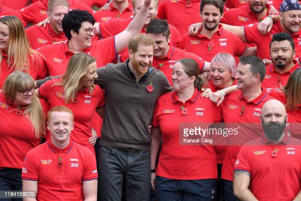 Prince Harry Duke of Sussex attends the launch of Team UK for the Invictus Games The Hague 2020 at Honourable Artillery Company on October 29 2019 in...