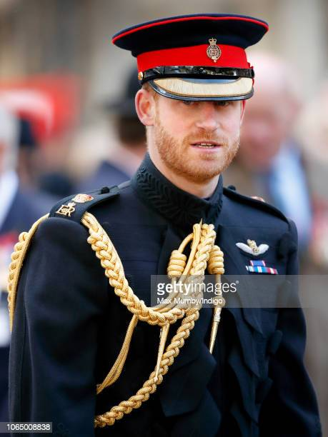 Prince Harry, Duke of Sussex attends the opening of the Field of Remembrance at Westminster Abbey on November 8, 2018 in London, England. The Field...
