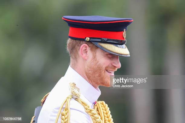 Prince Harry, Duke of Sussex attends the War Memorial Wreath Laying on October 24, 2018 in Suva, Fiji. The Duke and Duchess of Sussex are on their...
