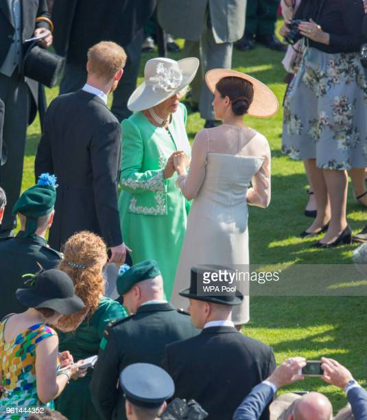 Prince Harry Duke of Sussex Camilla Duchess of Cornwall and Meghan Duchess of Sussex attend The Prince of Wales' 70th Birthday Patronage Celebration...