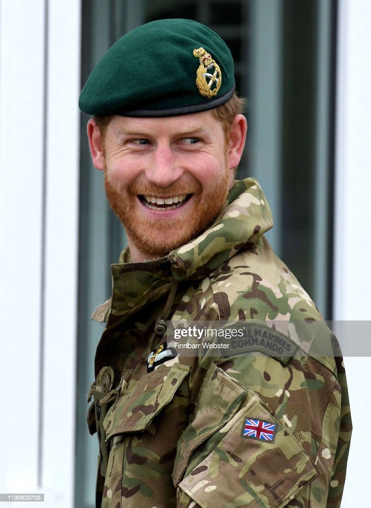 GBR: The Duke Of Sussex Carries Out Green Beret Presentation