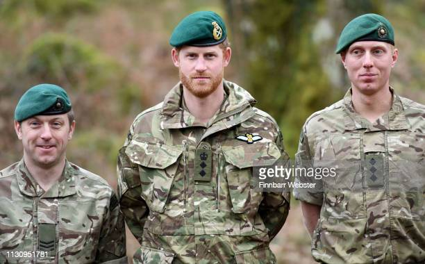 Prince Harry Duke of Sussex Captain General Royal Marines visits 42 Commando Royal Marines at their base in Bickleigh to carry out a Green Beret...