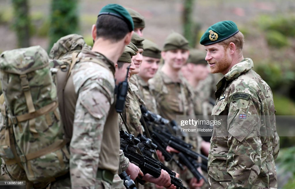 The Duke Of Sussex Carries Out Green Beret Presentation : News Photo