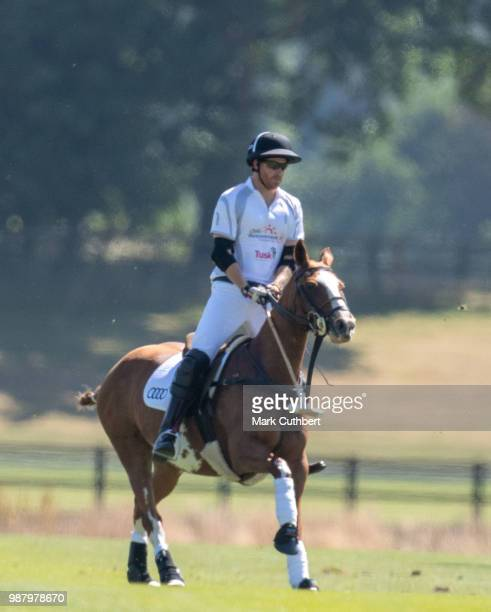 Prince Harry Duke of Sussex during the Audi Polo Challenge Day 1 at Coworth Park Polo Club on June 30 2018 in Ascot England