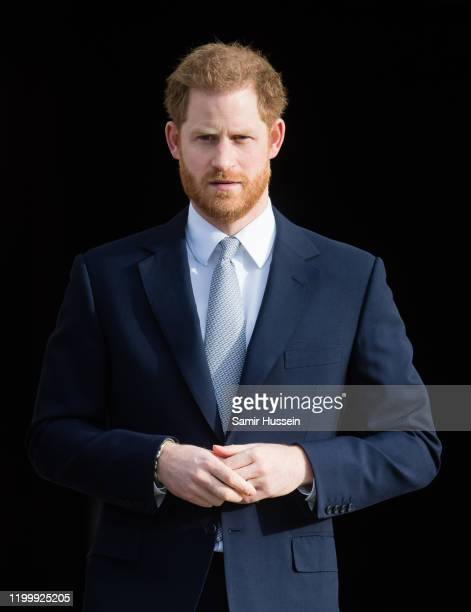 Prince Harry, Duke of Sussex hosts the Rugby League World Cup 2021 draws for the men's, women's and wheelchair tournaments at Buckingham Palace on...